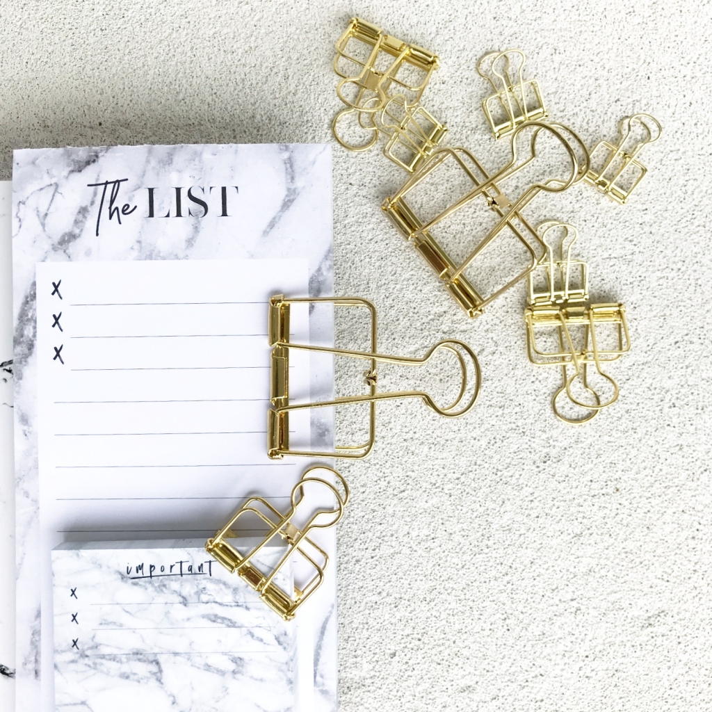 Binder Clips gold_3